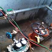 Backflow prevention system replacement in Atlanta GA.
