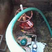 Backflow prevention system repaired.